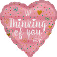 Coral Heart Thinkng of You Balloon