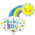 Sun and Clouds Baby Boy Balloon