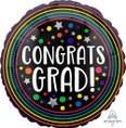 """28"""" Jumbo Congrats Grad Colorful Circles Balloon"""