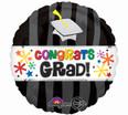 """28"""" Jumbo Congrats Grad Wavy Bursts Balloon"""
