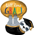 "28"" Grad Sloth Foil Balloon"