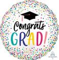 "28"" Jumbo YAY Grad Dots Foil Balloon"