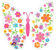 "25"" Floral Butterfly SuperShape Balloon"