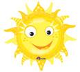 """29"""" Graphic Sun Jumbo Balloon"""