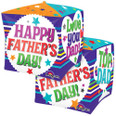 "15"" Father's Day Messages Cubez Foil Balloon"