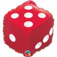 "18"" Red Dice (w/Hang Tab) Mylar Balloon"
