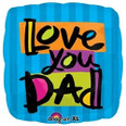 "18"" Love You Dad Square Balloon"