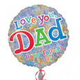 "18"" Love You Dad, Happy Father's Day Holographic"