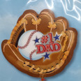 "21"" #1 Dad Baseball Mitt  – Father's Day – Foil Balloon"
