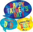 "26"" Happy Father's Day Message SuperShape"