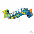 40″ Happy Father's Day Banner Foil Balloon