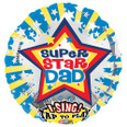 "28"" Super Star Dad Sing-A-Tune Foil Balloon"