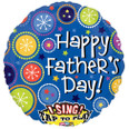 "28"" Happy Father's Day Sing-A-Tune Foil Balloon"