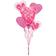 Happy Heart Day Pink Dots Bouquet