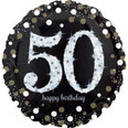 """18"""" Sparkling 50th Birthday Holographic"""