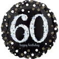 "18"" Sparkling 60th Birthday Holographic"