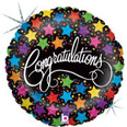 "18"" Congratulations Bold Stars Holographic"