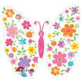 "25"" Multicolored Floral Butterfly Foil Balloon"
