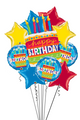 Giant White Birthday Cake Mylar Bundle