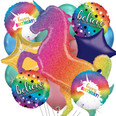 Holographic Rainbow Unicorn Birthday Bouquet