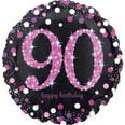 """18"""" Pink Sparkling Celebration 90 Holographic"""