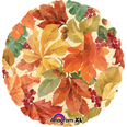 "18"" Elegant Fall Leaves Foil Balloon"
