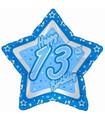 """18"""" Happy 13th Birthday Blue Star"""