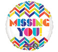 "18"" Multi Chevron Missing You! Balloon"