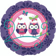 "18"" Owl Party Foil Balloon"