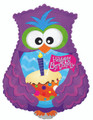 "24"" Happy Birthday Day Owl Shape Cupcake"