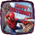 "18"" Square Happy Birthday Animated Spiderman"