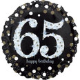 """18"""" Sparkling 65th Birthday Holographic"""