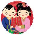 18″ Happy Chinese New Year Boy & Girl  Balloon