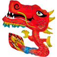 """40"""" Chinese New Year Foil Dragon Balloon"""