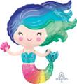 """30"""" Colorful Mermaid SuperShape"""