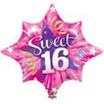 16th Birthday Starburst Balloon
