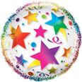 "23"" Clear See Through Rainbow Stars Balloon"