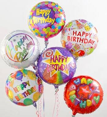 Happy Birthday Mylar Bouquet Of Balloons Image 1 Loading Zoom