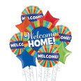 Deluxe Multicolor Welcome Home  Balloon Bouquet