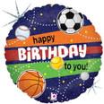 "18"" Sports Birthday Holographic"