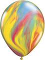 "11"" Traditional Rainbow Super Agate Latex Balloons"