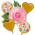 Bright Florals Balloon Bouquet