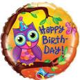"18"" Happy Birthday Owl"