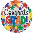 """18"""" Congrats Grad Dots and Stars"""