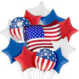 Small 4th of July Patriotic Balloon Bouquet