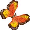 "31"" Beautiful Monarch Butterfly SuperShape Balloon"