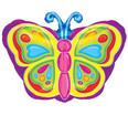 "18"" Rainbow Colorful Butterfly Junior Shape Balloon"