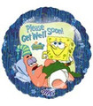 "18"" SpongeBob Balloon Please Get Well Soon!"