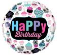 "18"" Round Birthday Cupcakes Emblem"