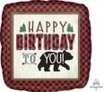 """18"""" Little Lumberjack Birthday Foil Balloon"""